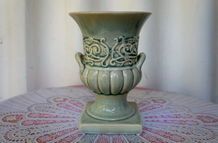Light Green Open Porcelain Vase image