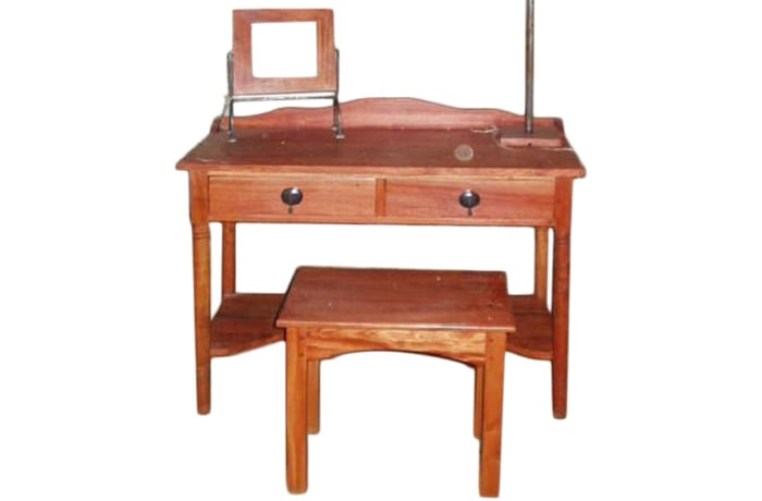 Dressing table with steel trim and knockers image