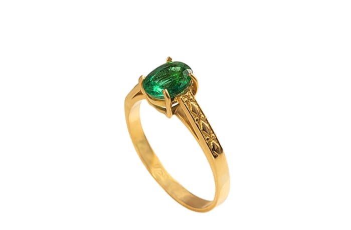 Oval Solitaire Emerald  Ring  image