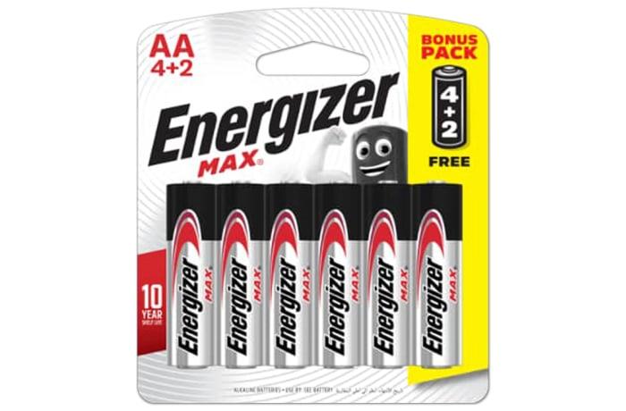 Energizer 4+2 AA Max - Alkaline Batteries 4+2 Pack image