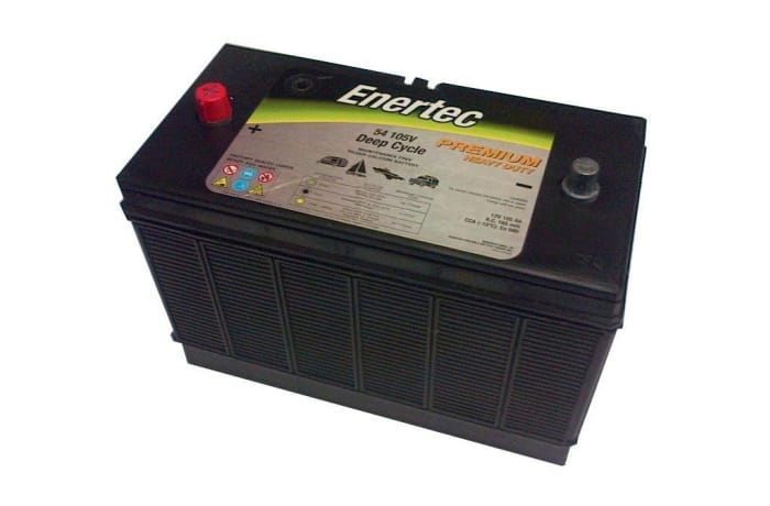 Enertec 105AH 12V Deep Cycle Battery image