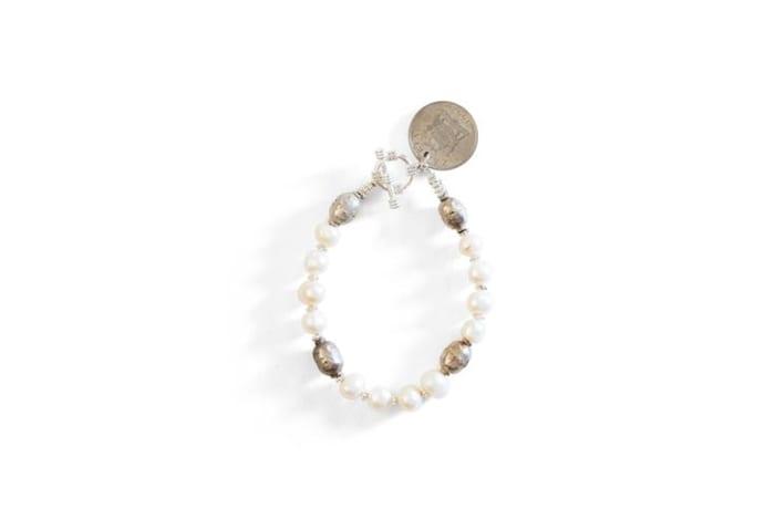 Ethiopian prayer bead & coin bracelet image