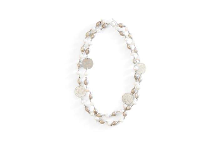 Ethiopian prayer bead & coin necklace image