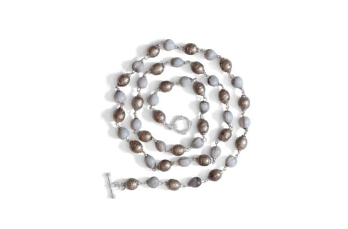 Ethiopian prayer bead & zulu seed bracelet & choker image