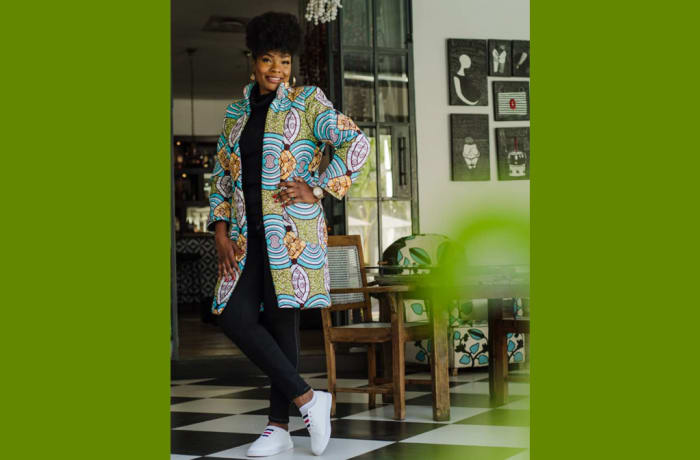 Chitenge drape jacket image