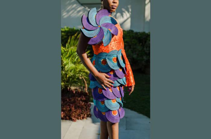 Chitenge sheath dress fashion statement image