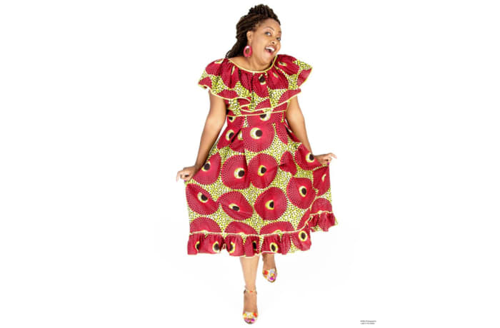 Traditional chitenge Zambian dress image