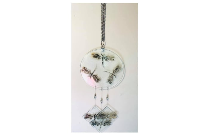 Glass necklace with dragonflies image