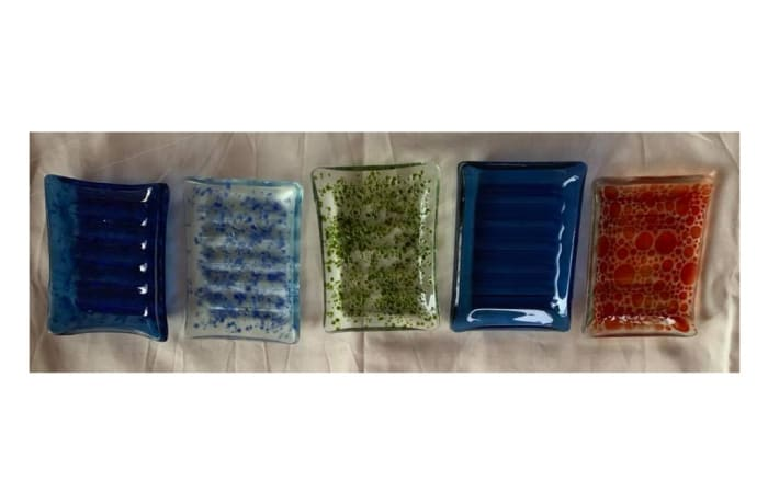 Glass soap dish holders image