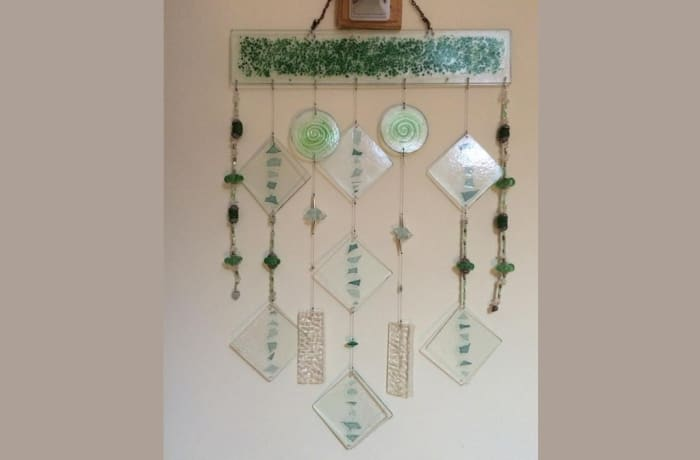 Decorative glass wall hanging image