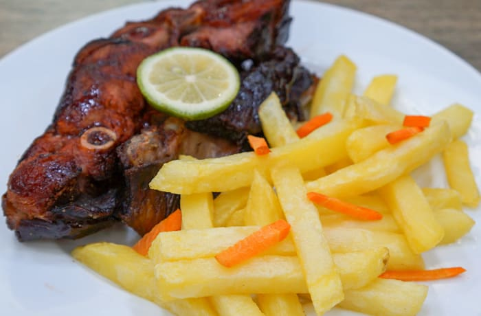 Goat 'n Chips goat and chips image