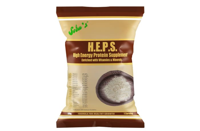 H.E.P.S High Energy Protein Supplement 50x50g image