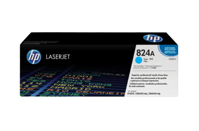 Printer Toner Cartridges - Hewlett Packard CB381A (HP 824A) Cyan Toner Cartridge image