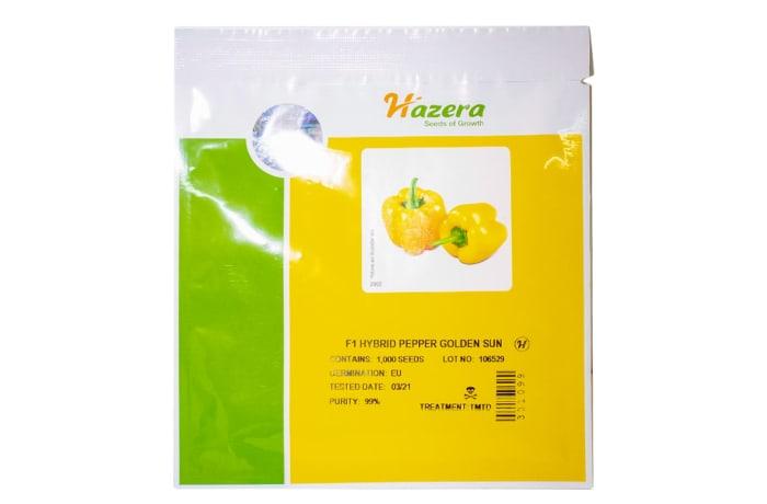Golden Sun  F1 Hybrid Yellow Bell Pepper Seeds  image