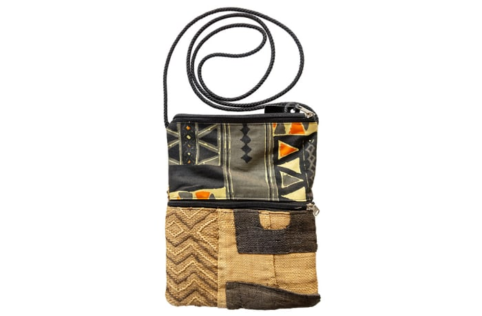 Sling Bags Kubu Cloth Patch Work of Kubu Cloth Zipped Pocket image