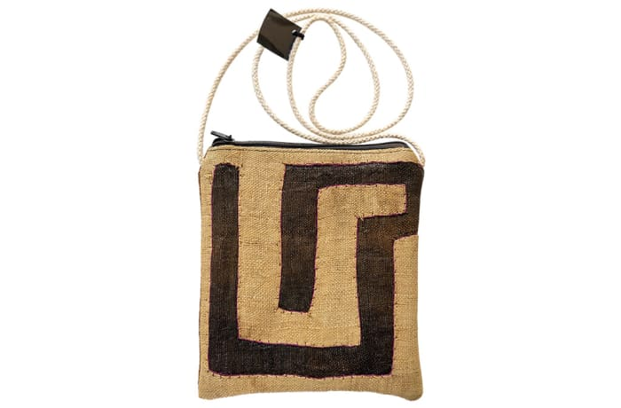 Sling Bags  Kubu Cloth Shades of Dark & Light Brown Zipped Bag image