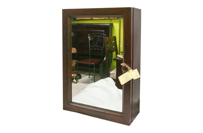 Bathroom Vanities - Wooden Mountable Bathroom Cabinet with Mirror Door image