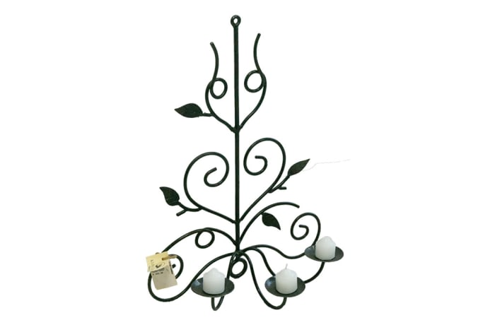 Candle Holders - Round Bar Vine 3 Candle image