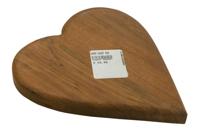 Chopping Blocks - Medium Wooden Heart-shaped Chopping Board image