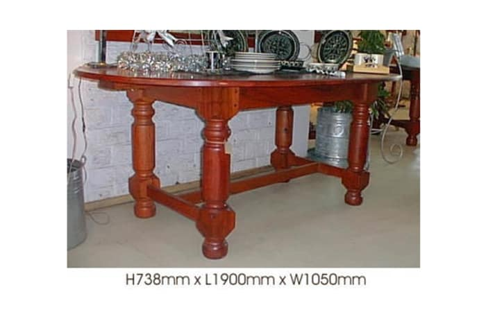 Dining table - 6-seater oval teak image