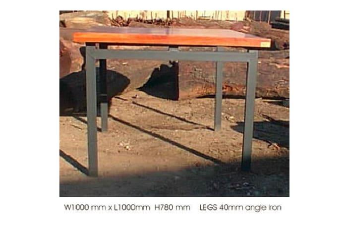 Dining table mock 4cm top 4 steel legs image