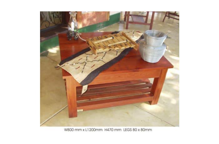 Med-sized slatted shelf Coffee table image