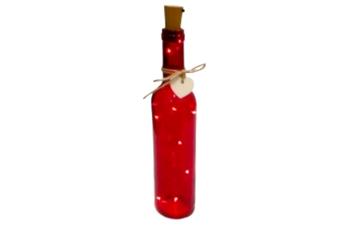 LED Lighted Red Wine Bottle  image