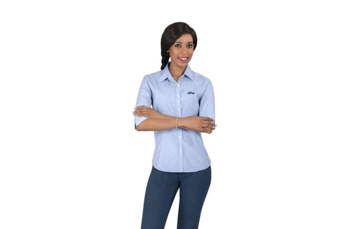 Ladies 3/4 Sleeve Duke Shirt image