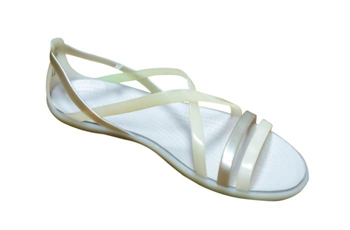 Ladies Silver Lace Crocs Sandals image