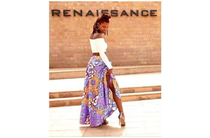 Full Length Chitenge Print Skirt Buloz Fashion House