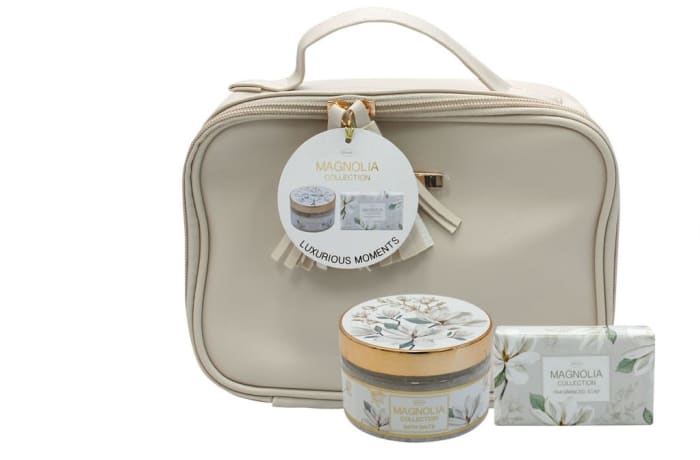 Magnolia Flower's By Jenam Luxurious Moments Cosmetic Bag image