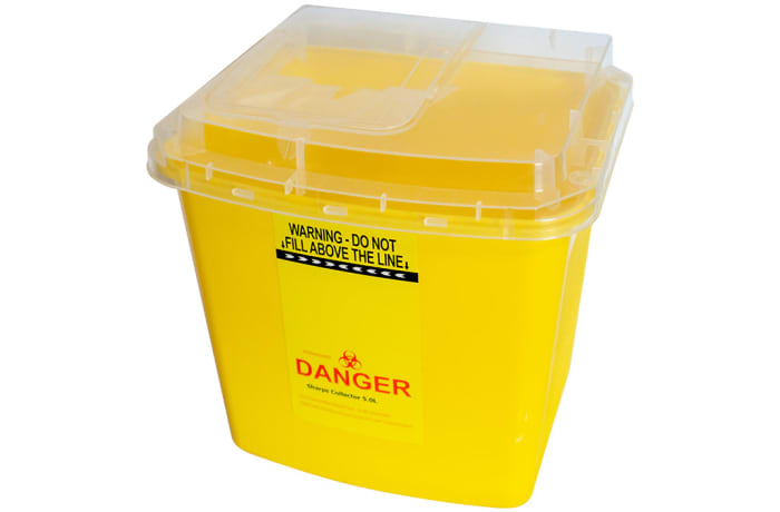 Yellow Bio Medical Waste Bin  for Hospitals Sharps Collector  5litre image