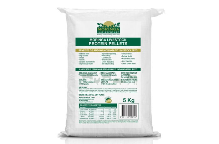Animal Health Care  Supplements Moringa  Livestock Protein Pellets 5kg image