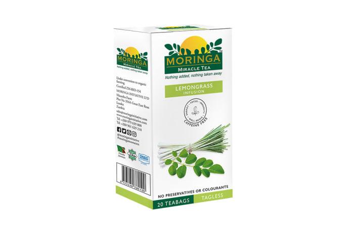 Herbal Tea Organic Superfood Moringa Tea Lemongrass Infusion  image