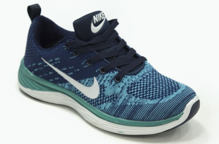 Nike - Blue white green sneakers image