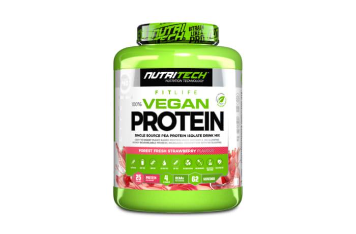 Nutritech  100% Vegan Protein Forest Fresh Strawberry  2kg image