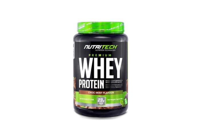 Nutritech  Premium Whey Protein Choc-Mint Flavour  1kg  image