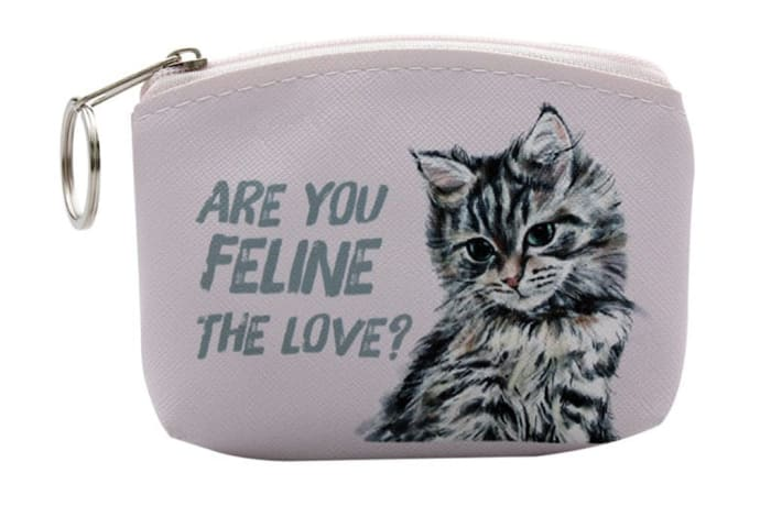 Paws For Thought Coin Purse - Are You Feline The Love image
