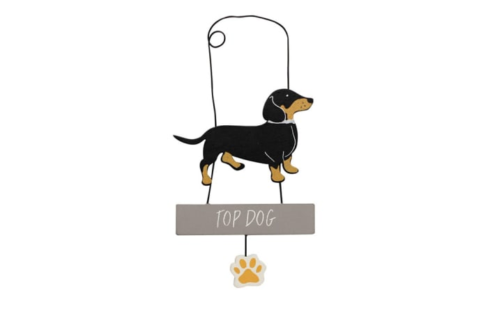Paws For Thought Wooden Hanger Decor (Top Dog) image
