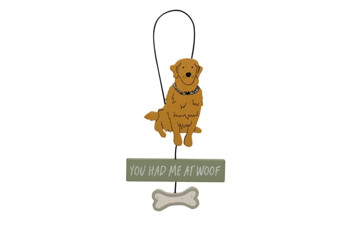 Paws For Thought Wooden Hanger Decor (You Had Me At Woof)  image