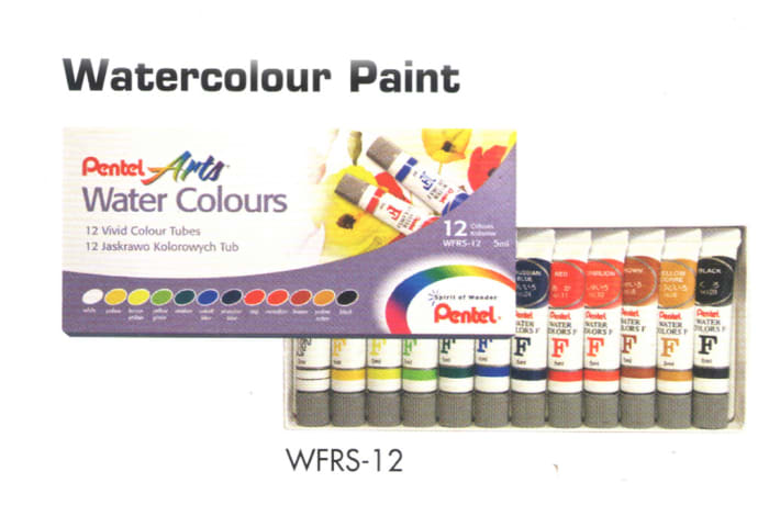 Pentel Arts - WFRS-12 Watercolour Paint - Water Colours image