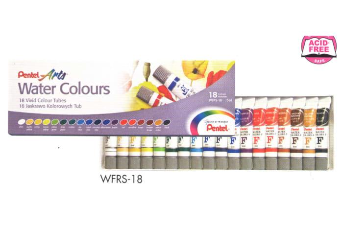 Pentel Arts - WFRS-18 Watercolour Paint - Water Colours image