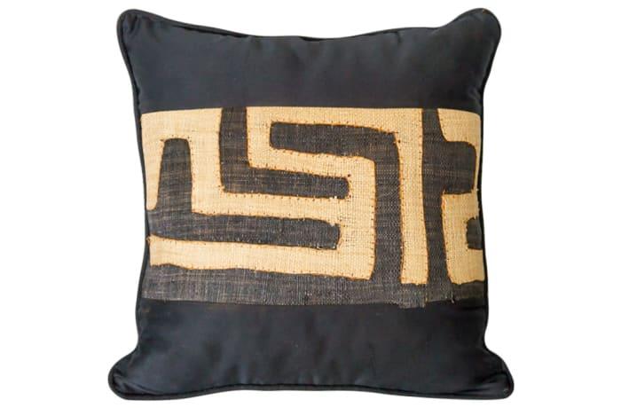 Pillow Sofa & Armchair Kuba Black and Beige Cushion image