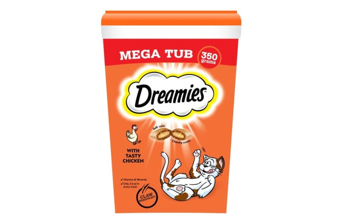 Cat food - Dreamies Chicken Tub 350g image