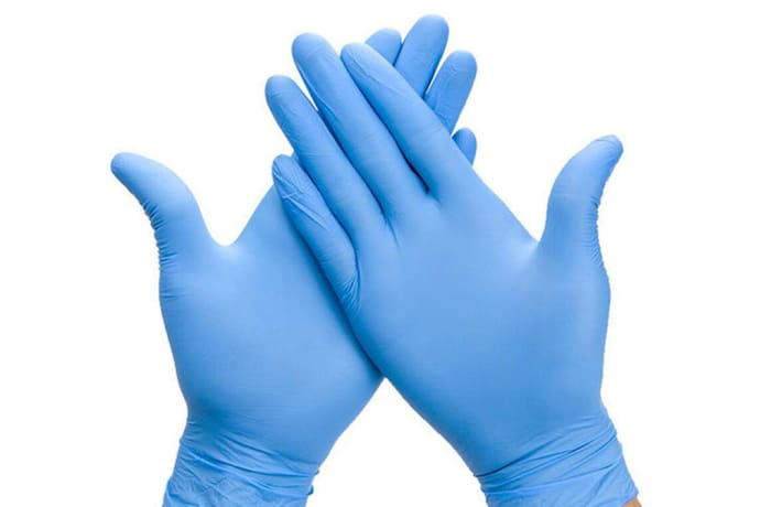 Protective latex gloves image