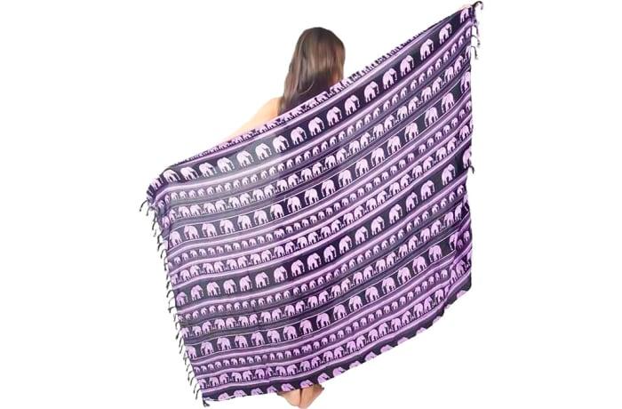 Purple & Black Sarong  image