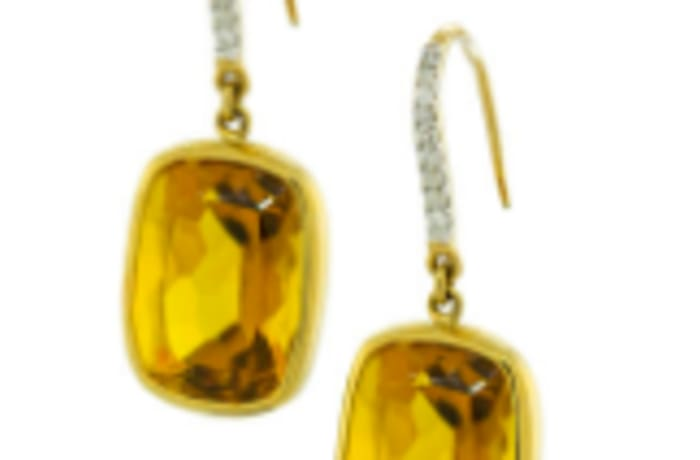 Citrine yellow gold earrings image