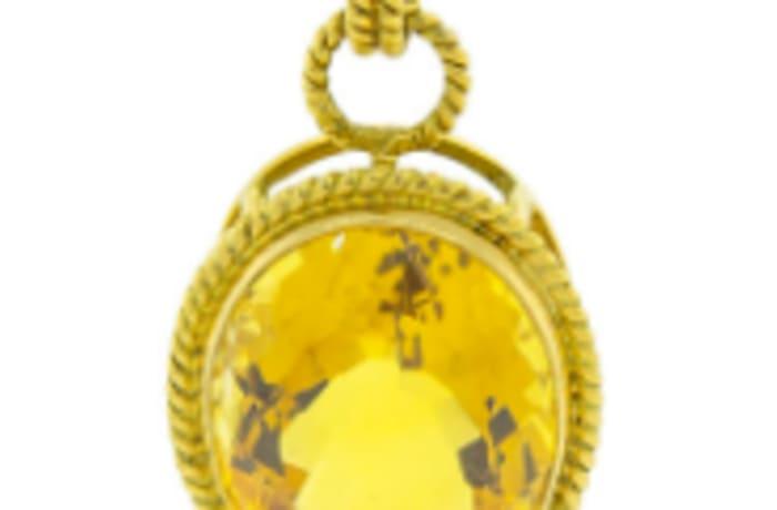 Citrine oval pendant image