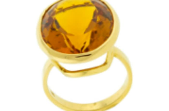 Citrine yellow gold ring image