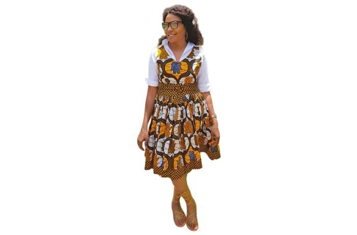 Short dress - African Chitenge Print image